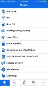app screenshot showing gender icons labeled Sexually Oriented