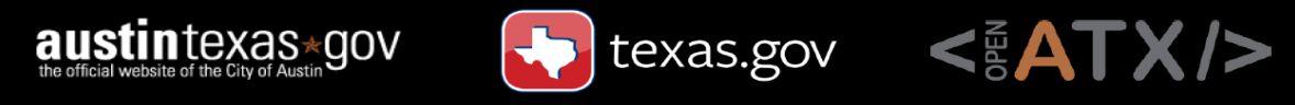 Govhack Sponsors: City of Austin, Texas.gov, Open Austin