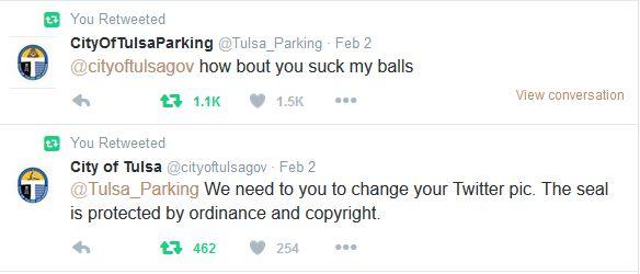 Tulsa Parking parody account
