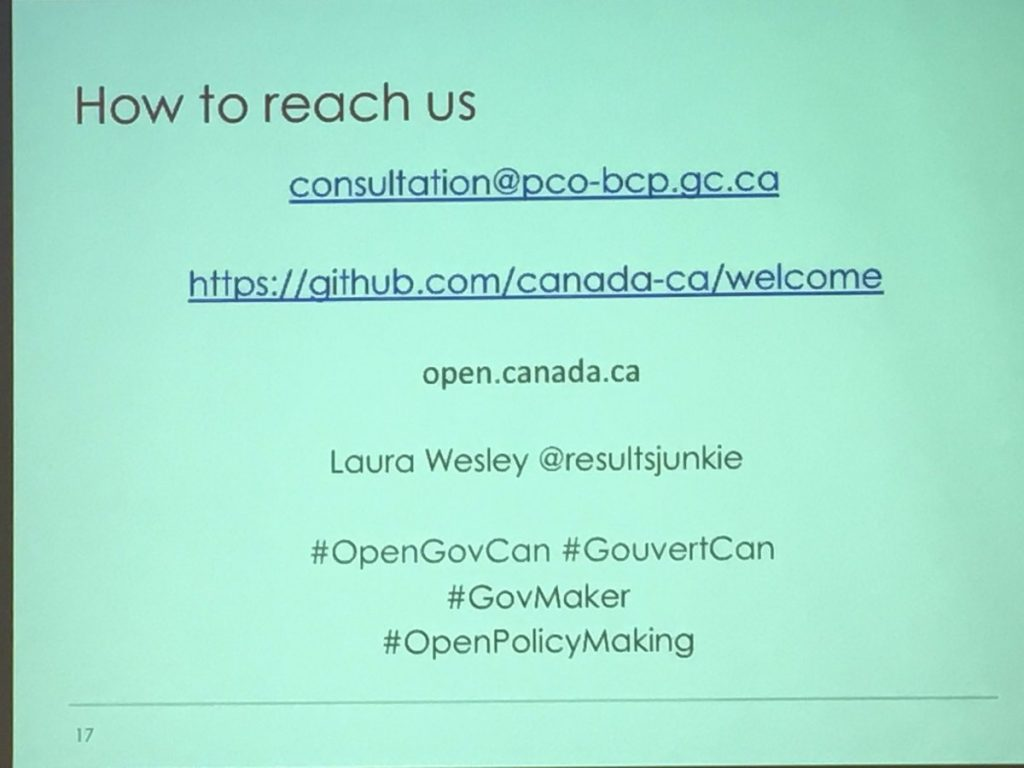 Canadian open government pages: open.canada.ca